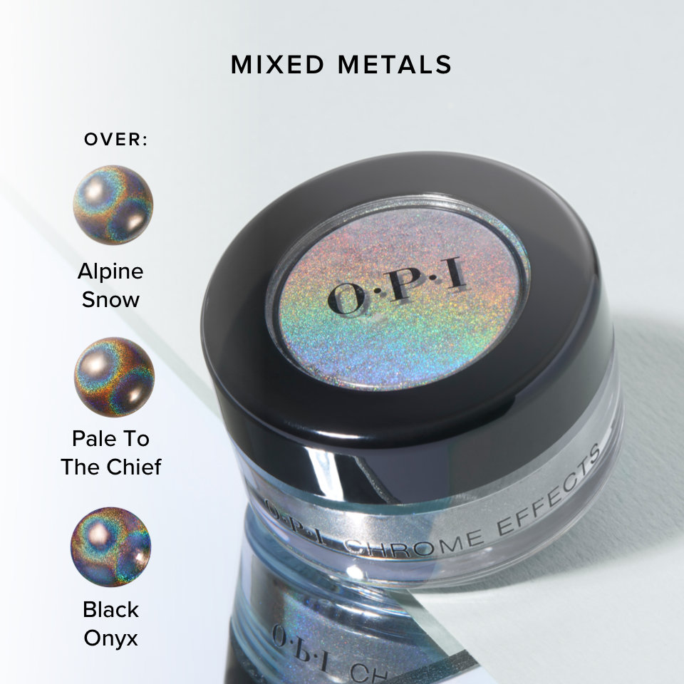 OPI Chrome Effects Powder Mixed Metals product attribute