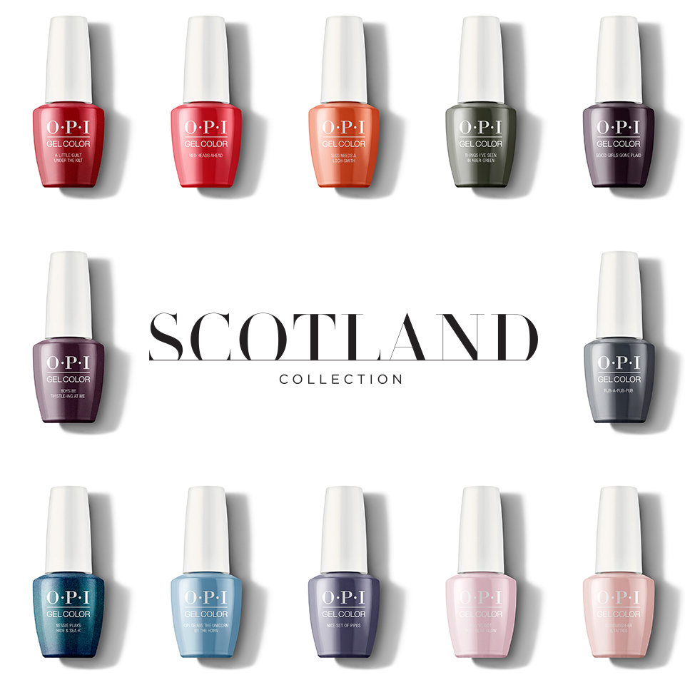 OPI Scotland Collection in GelColor