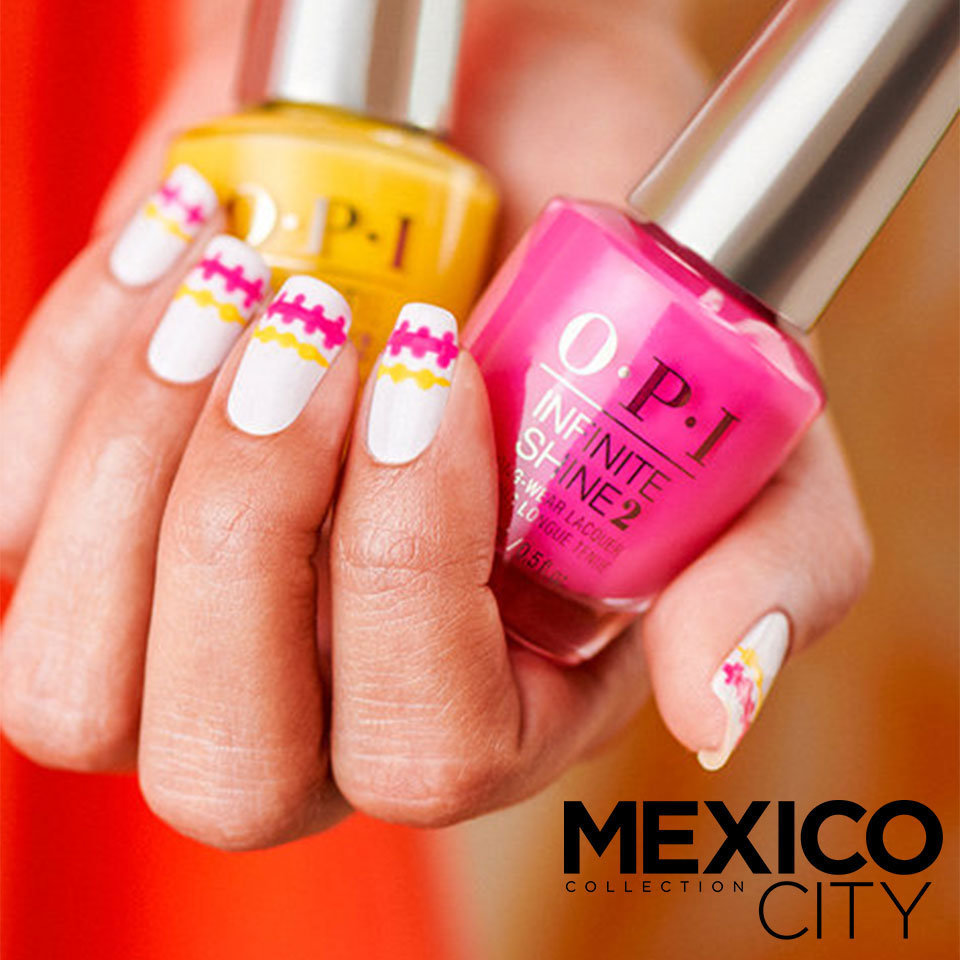 OPI Mexico City DIY Nail Art All Stitched Up