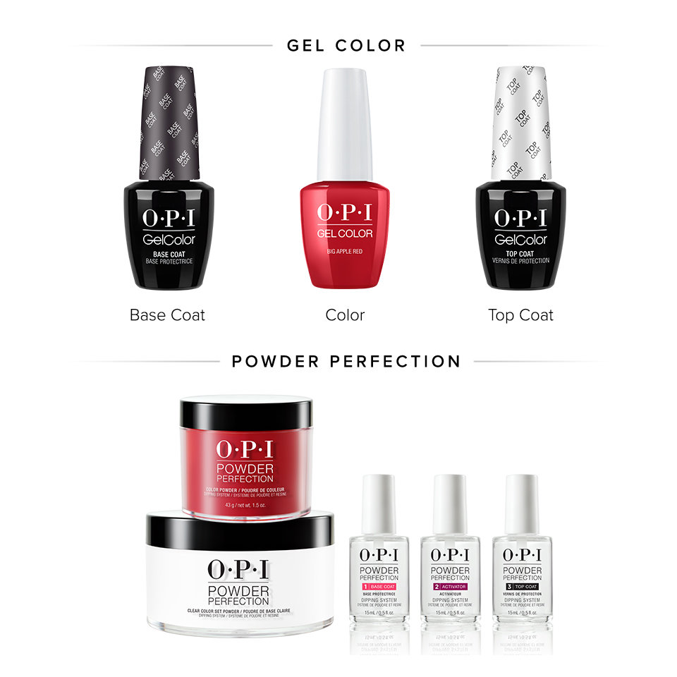 OPI GelColor with top coat & dipping powder