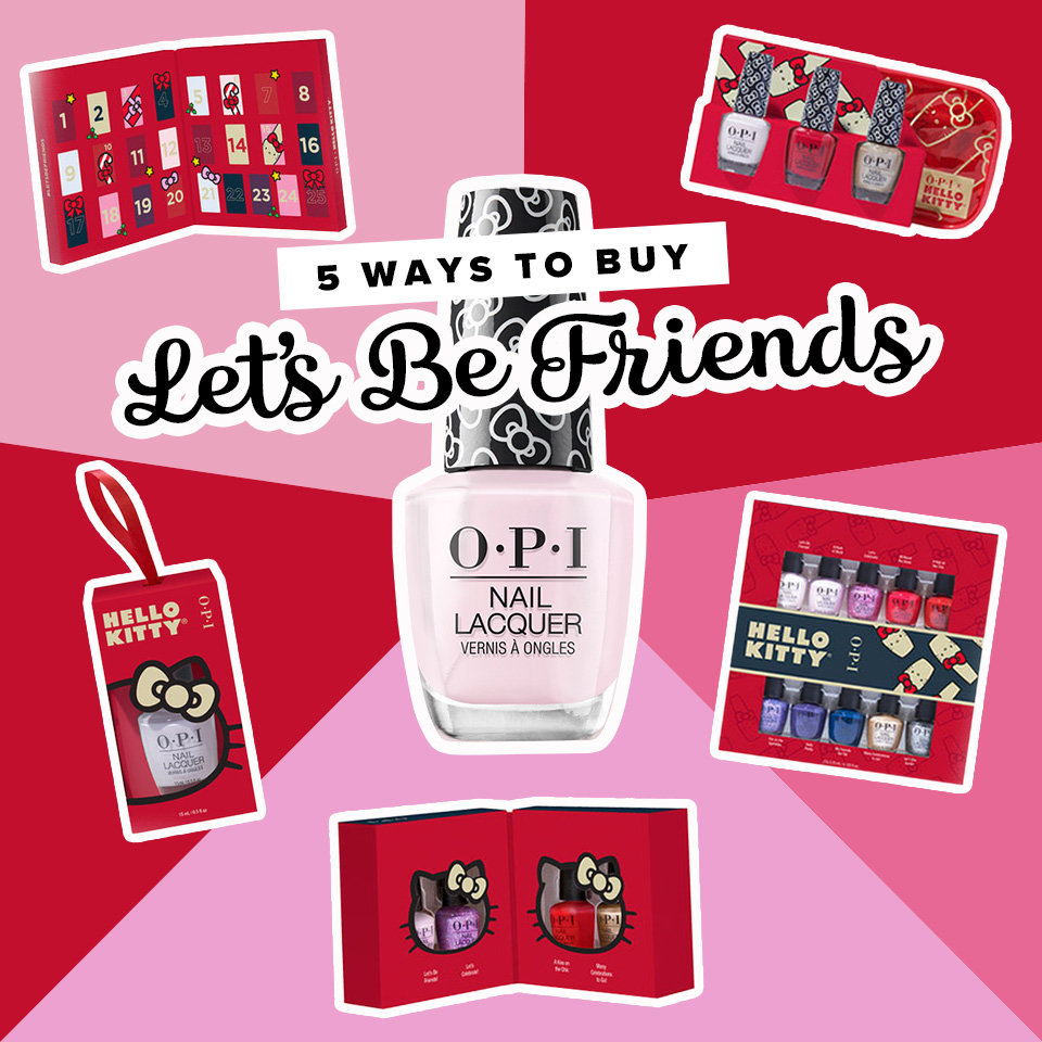 Shop OPI x Hello Kitty Holiday Collection Let's Be Friends Gifts