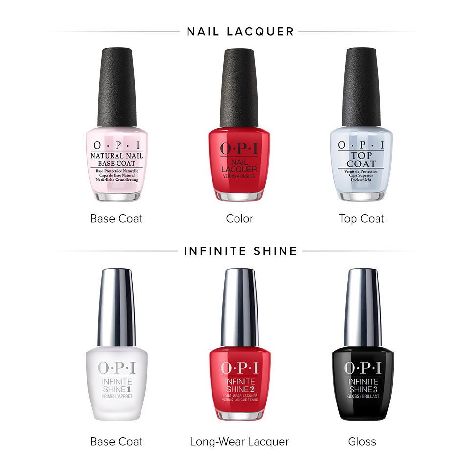 OPI Nail Lacquer vs. OPI Infinite Shine