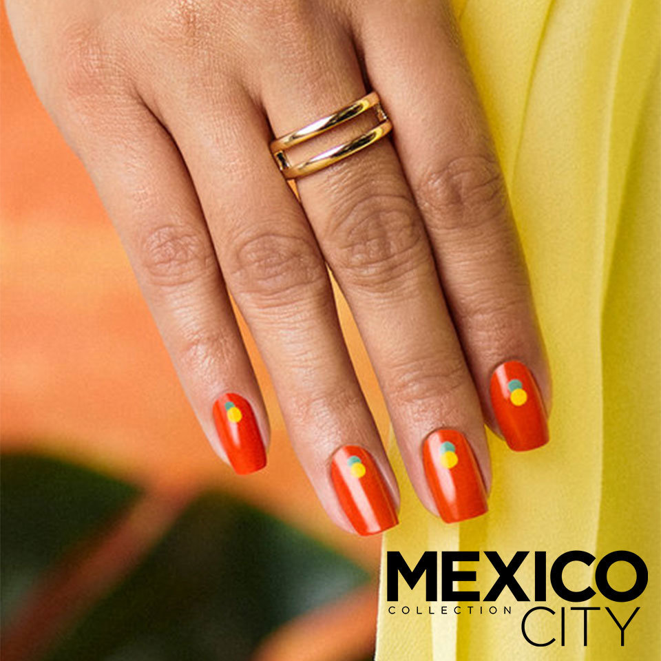 OPI Mexico City DIY Nail Art On the Dot