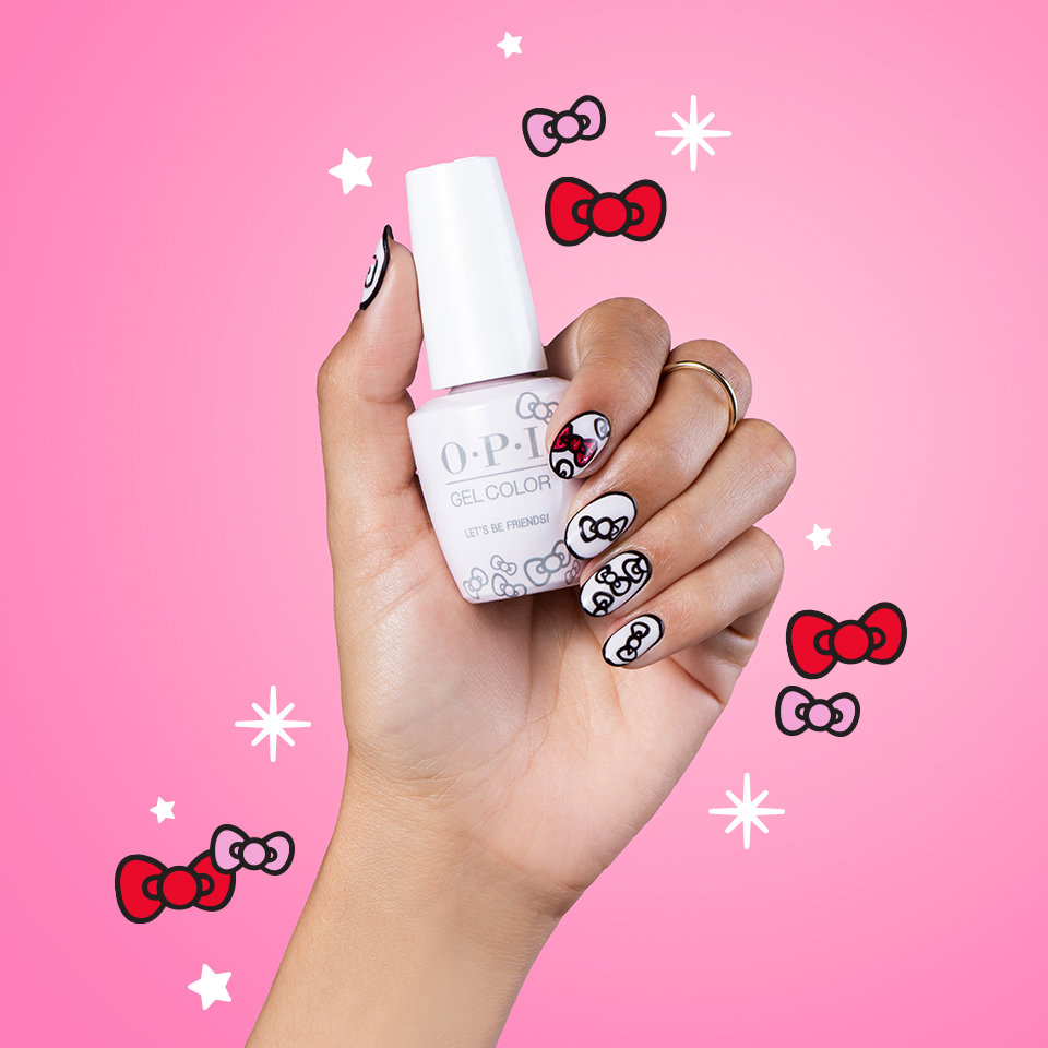 OPI x Hello Kitty Nail Art Put a Bow on It