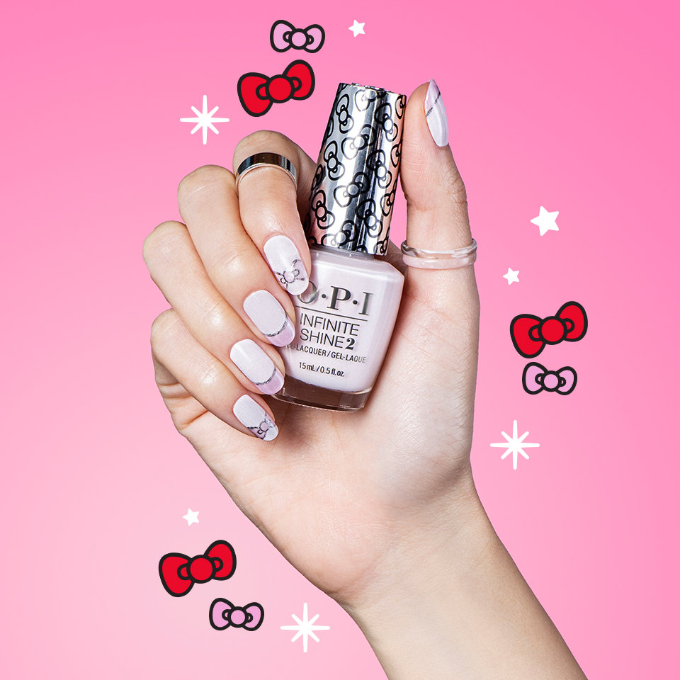 OPI x Hello Kitty Nail Art Sparkle Wherever You Bow