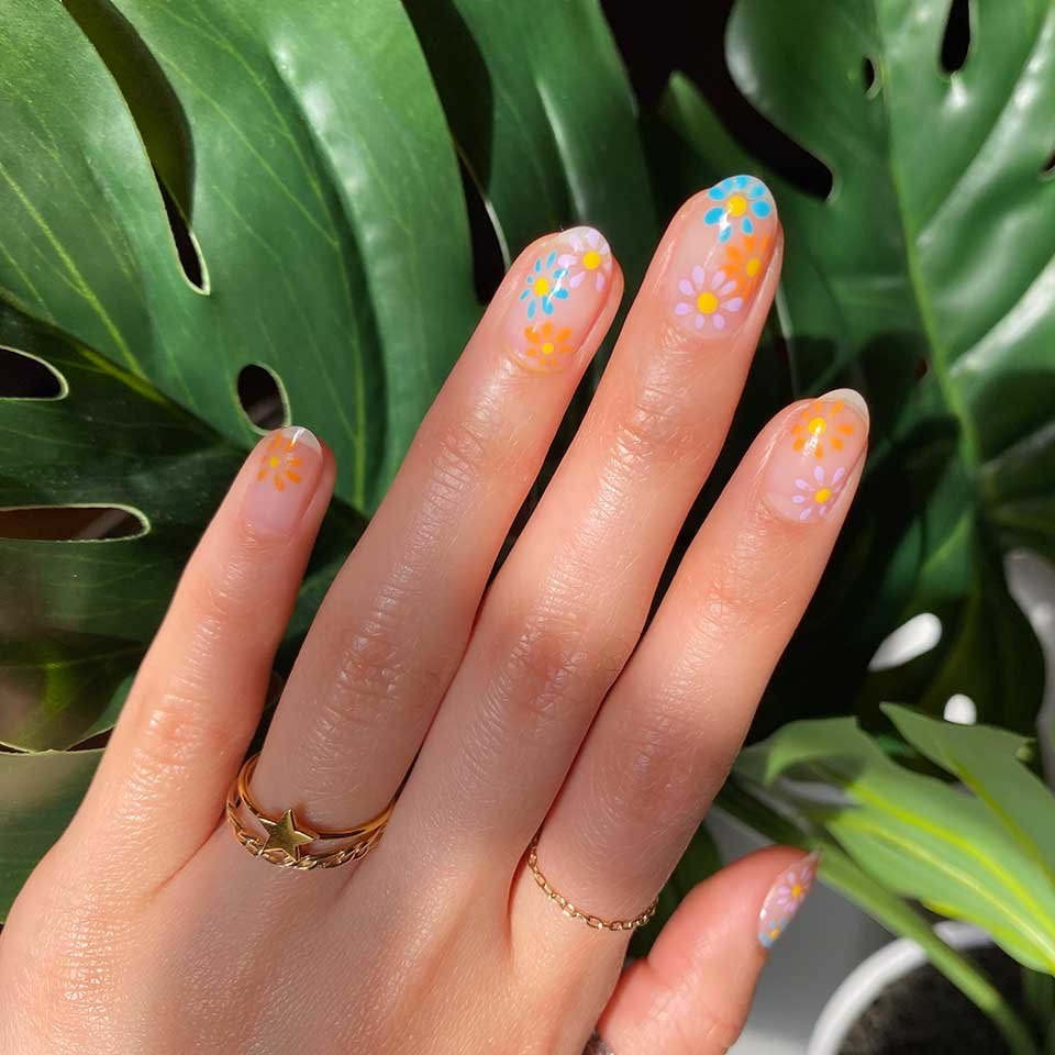 Stay at Home Challenge Negative Space Nail Art