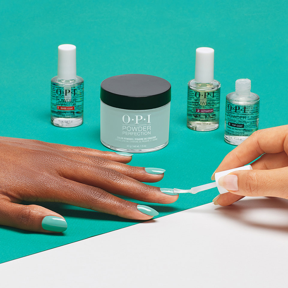 How to apply OPI Powder Perfection