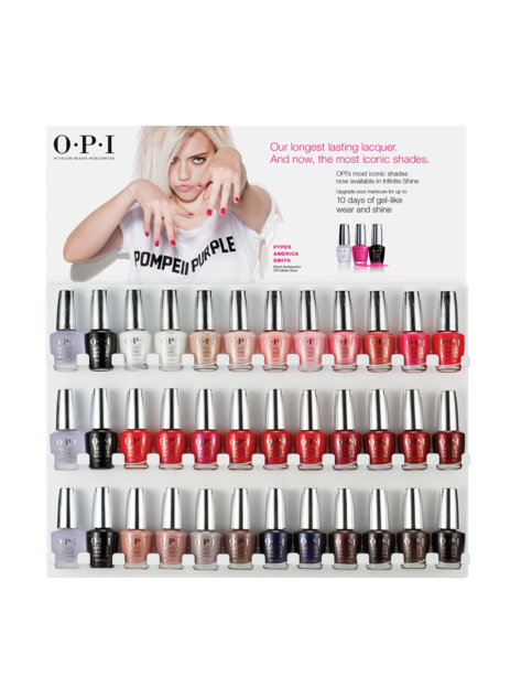 Infinite Shine Iconic Shades 36pc Wall Display Opi