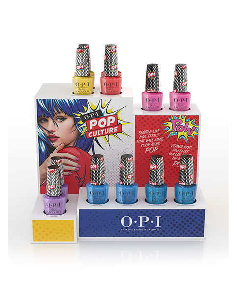 OPI Pop Culture collection chipboard display