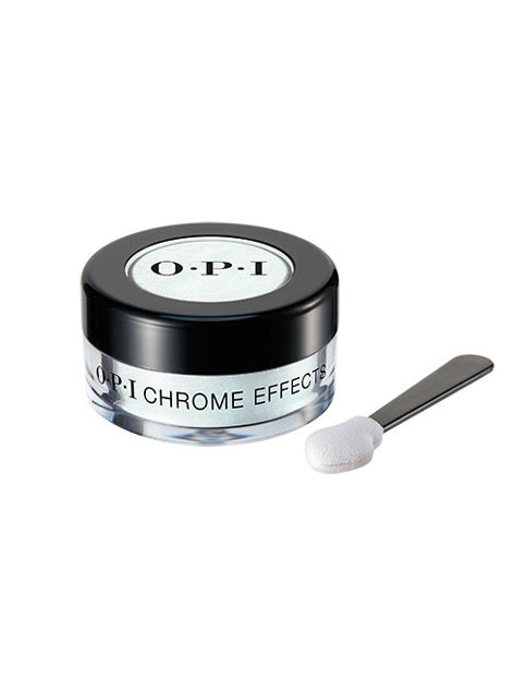 """OPI Chrome Effects powder in Blue """"Plate"""" Special with applicator"""