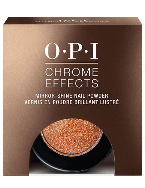 OPI Chrome Effects powder Bronzed By The Sun in package