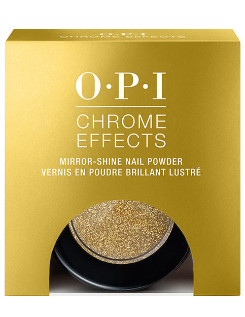 OPI Chrome Effects powder Gold Digger in package