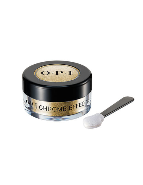Chrome Effects powder in Gold Digger with applicator