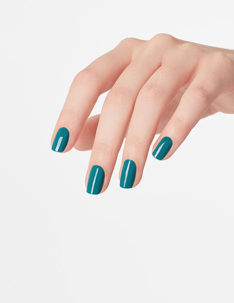 OPI Grease Collection Teal Me More, Teal Me More Nail Polish brush swatch