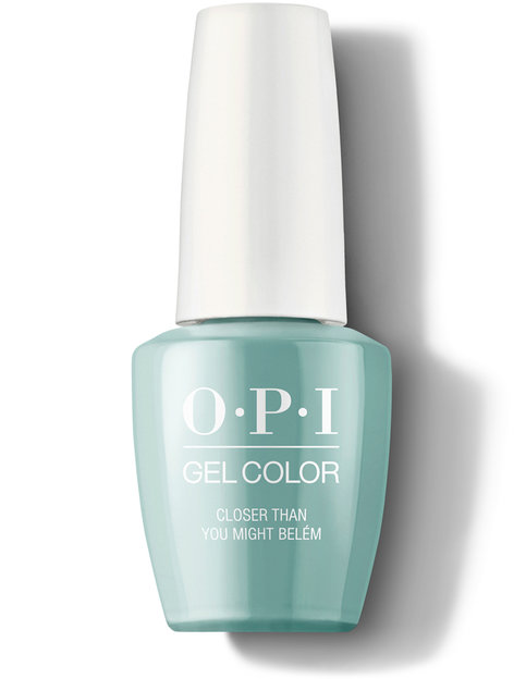 OPI GelColor nail polish bottle Closer Than You Might Belem