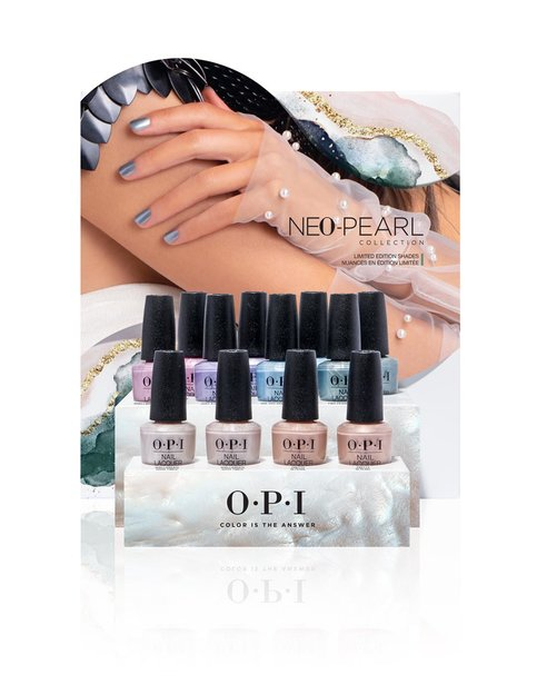Neo-Pearl Nail Lacquer 12pc Chipboard Display