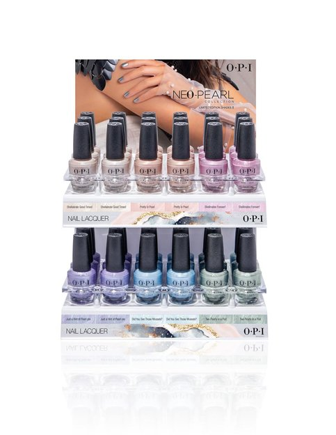 Neo-Pearl Nail Lacquer 36pc Acrylic Display