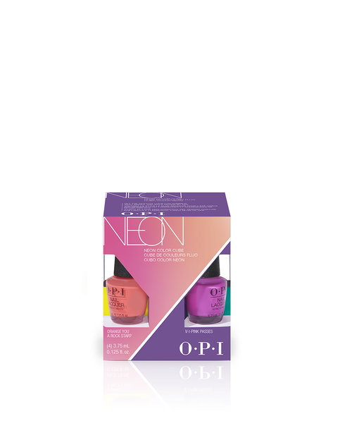Neons by OPI Nail Lacquer Mini 4-Pack Color Cube