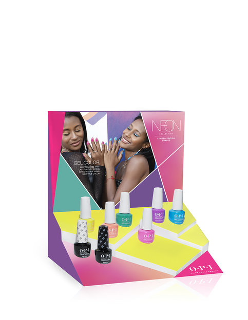 Neons by OPI GelColor 8 Pc Chipboard Display
