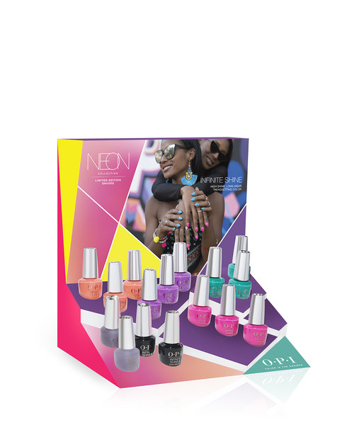 Neons by OPI Infinite Shine 16 Pc Chipboard Display