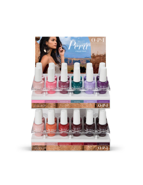 Peru GelColor 24PC Acrylic Display - Collection Displays - OPI