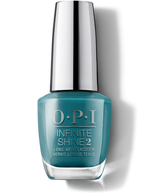 OPI Grease Collection Infinite Shine Teal Me More, Teal Me More Nail Polish bottle