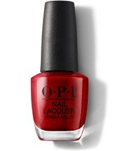 red nail polish opi