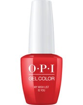 OPI LOVE OPI XOXO Collection GelColor nail lacquer 15 mL bottle My Wish List is You