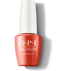 OPI Lisbon Collection GelColor 15 ml nail polish bottle A Red-vival City