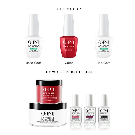 Gel Polish and Dipping Powders Comparison by OPI