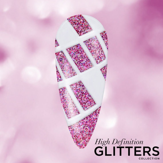 OPI Pro HD Glitters GelColor Nail Art Look: Rectangled In Glitter