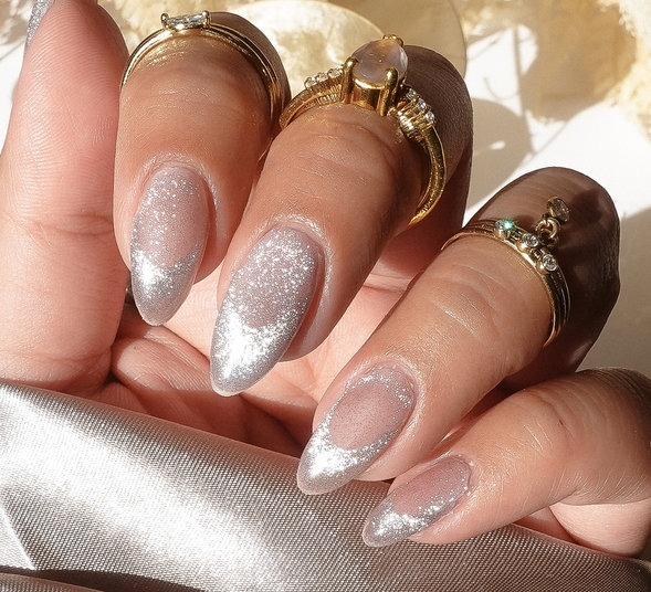 OPI Pro Nail Art Look: Magnet Effect French Tip Nail Art