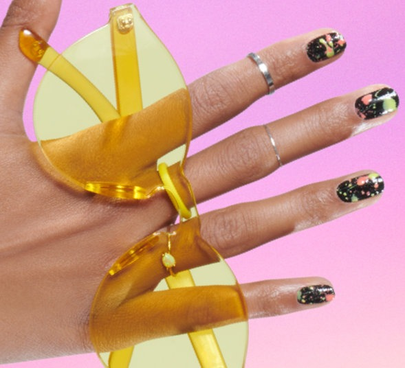 OPI Neon Collection DIY Nail Art Step-by-step