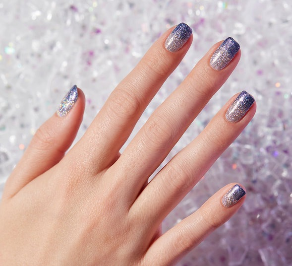 OPI GelColor HD Glitters Nail Art Look: Ombrace the Glitter