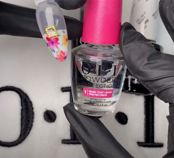 OPI Pro Tips How to Secure Embellishments