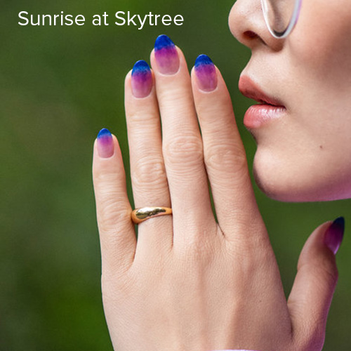 OPI Nail Art: Sunrise at Skytree