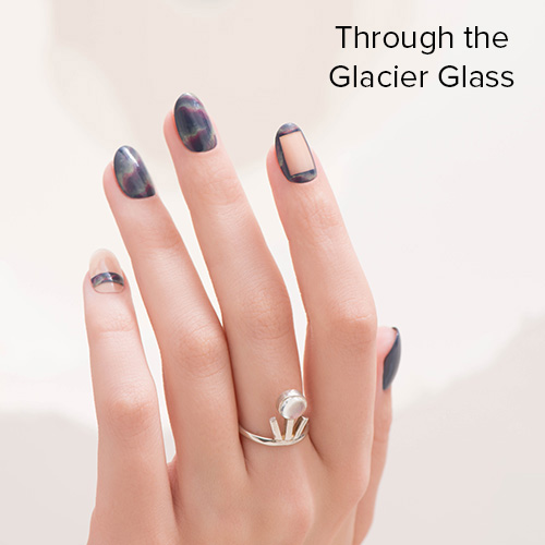 OPI Nail Art: Through the Glacier Glass