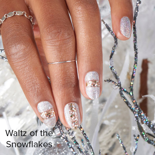 OPI Nail Art: Waltz of the Snowflakes