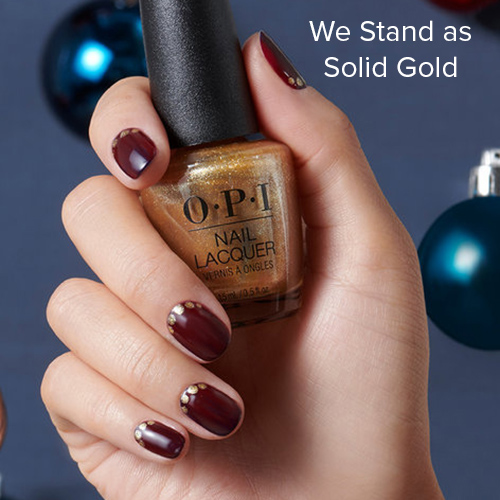 OPI Nail Art: We Stand as Solid Gold